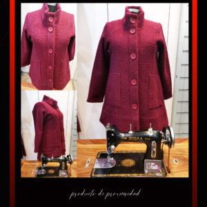 rebaja abrigo lana cocida